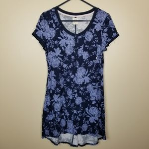 Lucky Brand Blue Floral Sleep Shirt size S